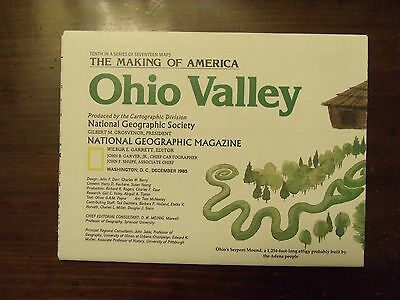 National Geographic Map The Making Of America Ohio Valley December 1985