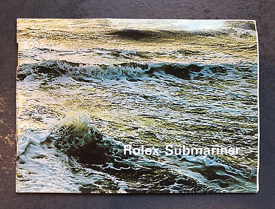 Rolex Submariner Booklet from 1975 for Ref. 1665, 1680, 5513