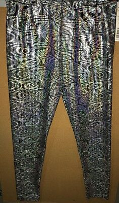 Body Wrappers T7721 Holographic Leggings Adult Medium