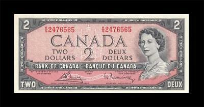 1954 BANK OF CANADA QEII $2 **Bouey & Rasminsky** (( GEM UNC ))