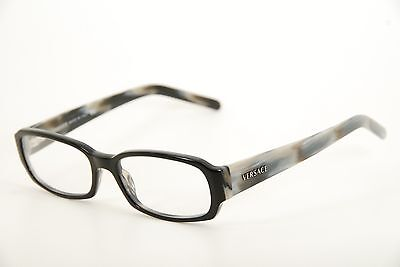 a787c11e9a6b New Authentic Versace Mod. 3072 184 Black Grey Marble 53mm Eyeglasses RX  Italy