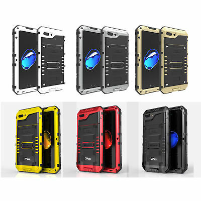 Waterproof Shockproof LUPHIE Aluminum Metal Case Cover for iPhone 6S 7 8 Plus X
