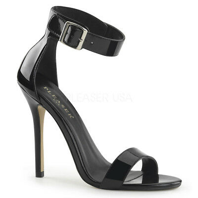 Black Strappy High Heels Mens Drag Crossdresser Tranny Shoes Womans 12 13 14 15