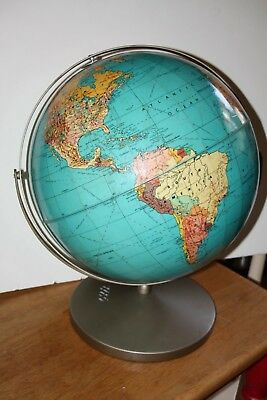 "Vintage Large 16"" Political World Globe School Edition Awesome condition see pic"