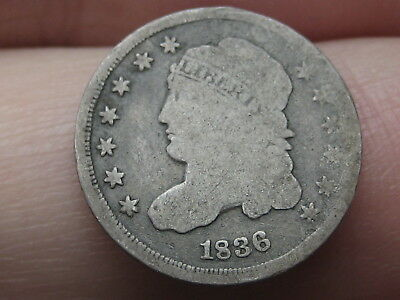 1836 Silver Capped Bust Half Dime, Small 5C