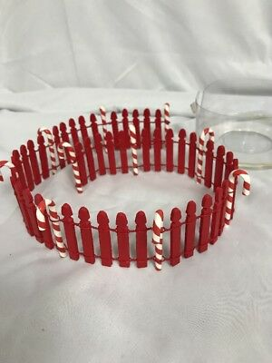Dept 56 North Pole Accessories ~ CANDY CANE FENCE ~ #52664 Used