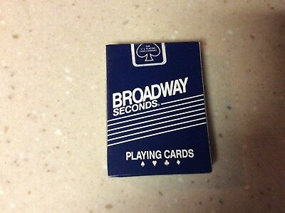 US Playing Card Company Broadway Seconds playing cards, New Sealed Casino Deck!