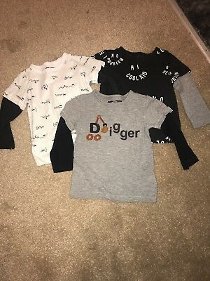Next Baby boys long sleeved t-shirts, set of 3. Size 12-18 months.
