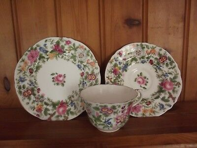Crown Staffordshire Floral  Trio
