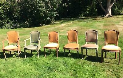 Set of 6 Dining Chairs For Restoration