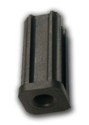 "1"" Square Tube Caster Socket for 7/16"" Grip-Ring Casters, Fits 1"", 18 Gauge Tube"