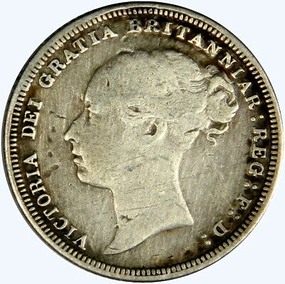1881 Great Britain Victoria Sixpence ~ ~ Priced Right! Inv #917