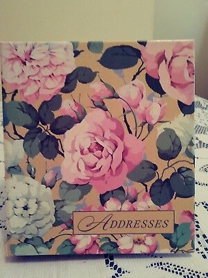 Hallmark Address Book NEW Floral Roses Made in USA  Refillable