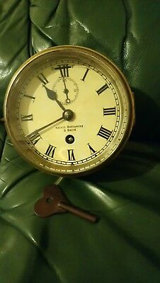 Vintage Antique Kelvin Bottomley & Baird Brass Ship Clock