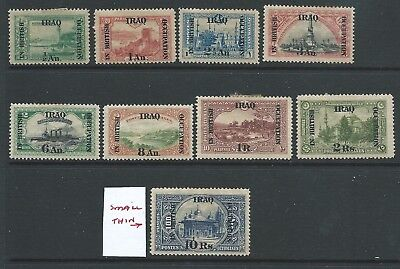 Iraq British Occupation 1918 Values To 10 R Very Mixed Condition See Both Scans