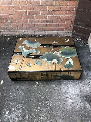 Antique Vintage Beautiful Chinese Oriental Japanese Decorative Wooden Table Box