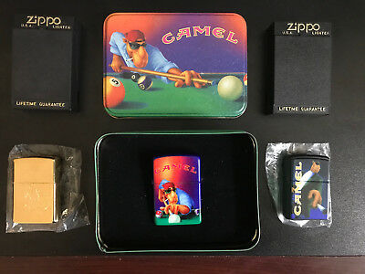 Lot of 3 RARE, MINT Joe Camel Lighters from the 90's