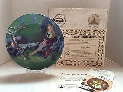 Once Upon A Dream Sleeping Beauty Collector Plate Knowles