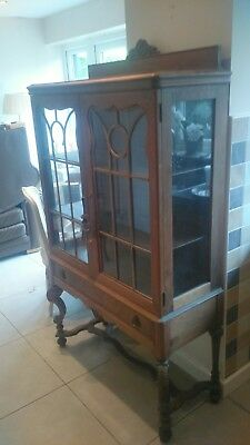 Beautiful Antique Display Cabinet / Bookcase