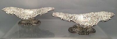 Sterling Pair of Centerpiece In Repousse by Jacobi