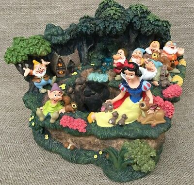 Disney Snow White & The Seven Dwarfs Lighted Waterfall Fountain Display