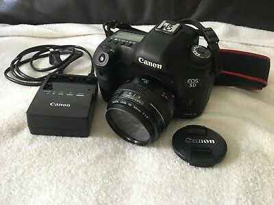 Canon EOS 5D Mark III 22.3MP Digital SLR Camera - Kit w/ Canon EF 50mm Lens