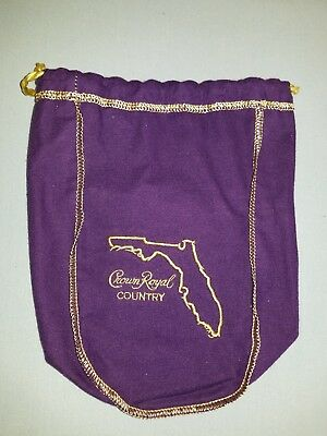 Crown Royal Country Florida Limited Edition Bag Purple w/Gold Trim