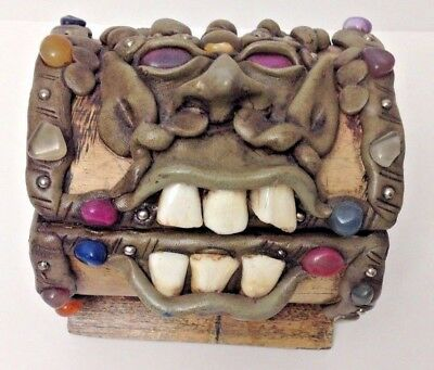 Bejeweled Trinket Box with Camels Teeth Novelty Item Gaffe- Fun Interest