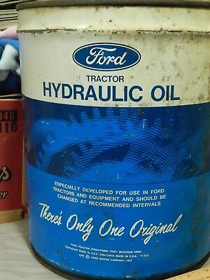 FORD Tractor Hydraulic Oil [1967-'75] Five US Gal. ~ OIL CAN ~ #M-2C53-A ~ Vtg