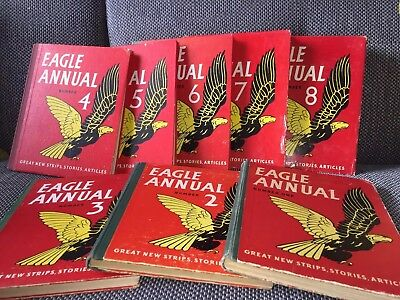Collection of 8 EAGLE ANNUALS 1,2,3,4,5,6,7,8
