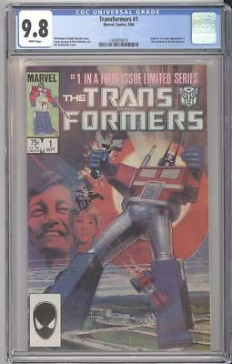 Marvel Comics TRANFORMERS #1 CGC 9.8 White Pages 1st Appearance of the Autobots