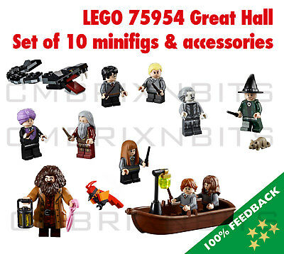 LEGO 75954 Harry Potter Hogwarts Great Hall Minifigures and accessories - NEW