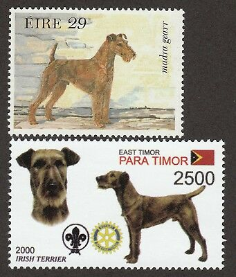 IRISH TERRIER **Int'l Dog Postage Stamp Collection ** Unique Gift **