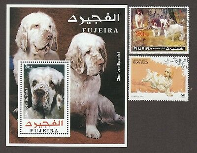 CLUMBER SPANIEL **Int'l Dog Postage Stamp Collection ** Unique Gift **