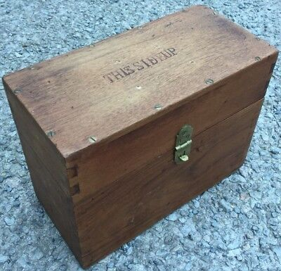 Vintage Wooden 'This Side Up' Workshop Craft Tool Box