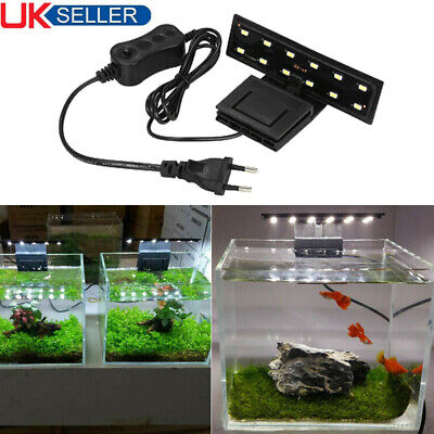 5W Aquarium LED-Licht Ultra Bright Clip-on Beleuchtung Lampe 12 LEDs