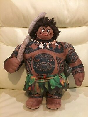BNWT Official Disney Store Stamped Maui Medium Soft Plush Toy Doll Moana