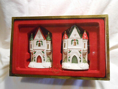 LENOX ~ Holiday COLLECTION ~ Castle ~ SALT AND PEPPER SHAKERS with box