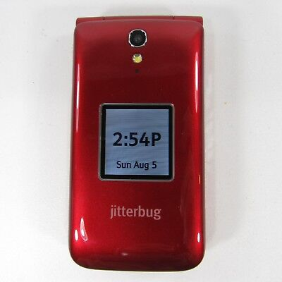 Jitterbug Flip Easy-to-Use Cell Phone for Seniors Gray by GreatCall Red