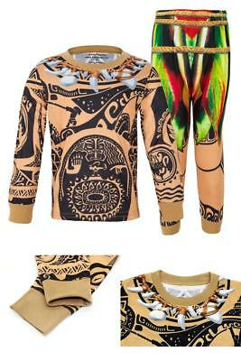 moana maui halloween costumes for boys pajamas set toddler kids sleepwear 2t