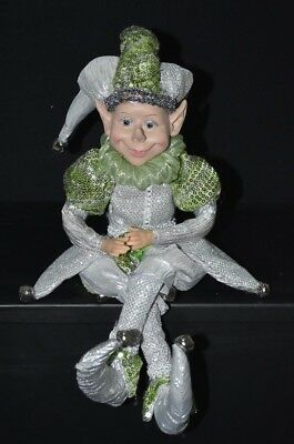 Elf Doll - Green & Silver