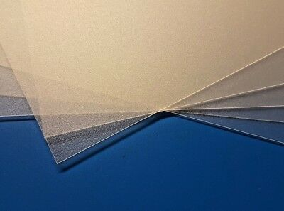 Opaque Polypropylene Plastic Sheet Sand Finish ViPrint 0.8mm Thick - A5, A4, A3