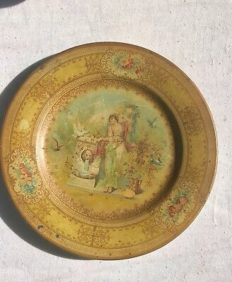 """Vienna Art Plate Early 1900's Patent Pending """"Rare""""...."""