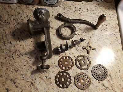 Griswold Meat Grinder NO. 1111 With 5 Grinding Plates