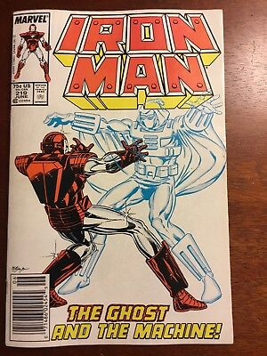 IRON MAN #219 1st appearance GHOST Heard Going To Be In Black Widow NEWSTAND!!