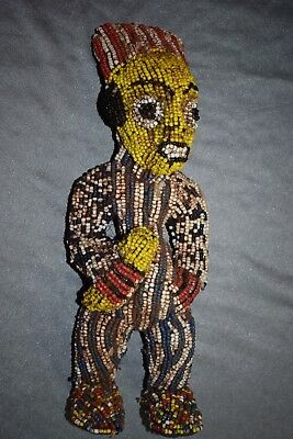 "orig $499-QUALITY BAMUN BEADED FIGURE, EARLY 1900S REAL 14"" PROV."