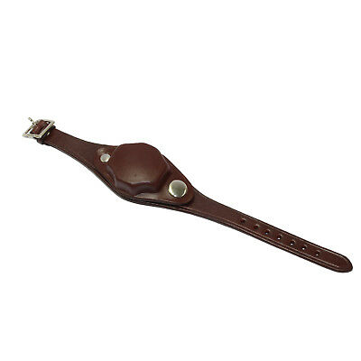 Watch Band and Cover Brown Leather Military reproduction Watchcover