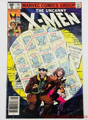 Uncanny X-Men #141 & #142 Days of Future Past Complete Free Shipping *NR* 1981
