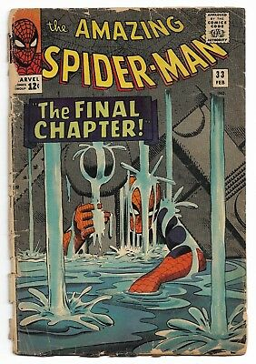 Amazing Spider-Man #33 (1966 Marvel Comics) Silver Age, Lower Grade