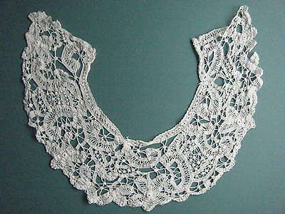 Antique Fine Battenburg Tape & Needle Lace Floral Collar Minor Flaws